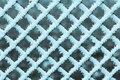 Freezing fence pattern of a covered by fog Stock Photo