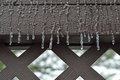 Freezing rain hitting the deck Stock Photos