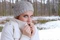 Freezing woman Royalty Free Stock Photo