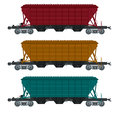 Freight car vector image of collection of Stock Image