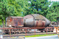 Freight cars, tank cars, torpedo cars, Royalty Free Stock Photo