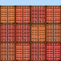 Freight Containers Stock Photo