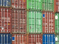 Freight containers Royalty Free Stock Photography