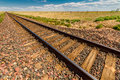 Freight line railroad tracks Royalty Free Stock Photo