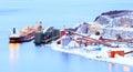 Freight mining ship Royalty Free Stock Photo