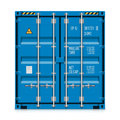 Freight shipping cargo container on white Royalty Free Stock Images