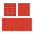 Freight shipping cargo containers illustration Stock Image