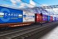 Náklad vlak náklad kontajnery