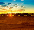 Freight train passing by Royalty Free Stock Photo