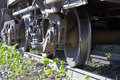 Freight train wheel Royalty Free Stock Photo