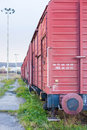 Freight wagons on a railway siding the final station Royalty Free Stock Image