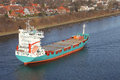 Freighter on kiel canal germany Stock Photo