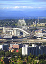 The Fremont bridge, Portland OR. Royalty Free Stock Photo