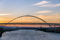 Fremont Bridge at Sunset Royalty Free Stock Photo