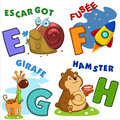 French alphabet part 2 Royalty Free Stock Photo