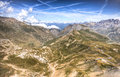 French alps a view of the around the la bonette mountain pass Royalty Free Stock Photo