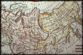 French ancient map of Russia. Stock Photography
