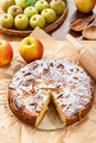 French apple and pear pie tarte Stock Image