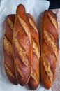 French artisan baguettes Royalty Free Stock Photo
