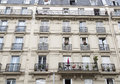 French balconies in paris with flowers Royalty Free Stock Image
