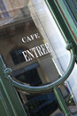French bistro Royalty Free Stock Photo