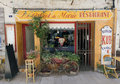 French bistro restaurant in Paris france Royalty Free Stock Photo