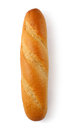 French bread a loaf of on white background Royalty Free Stock Photo