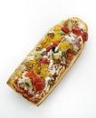 French bread pizza with grilled vegetables Stock Image