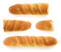 French bread on white background Stock Photo