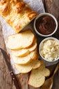 French brioche bread and cream mascarpone cheese, chocolate crea Royalty Free Stock Photo