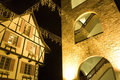 French Buildings at Night Royalty Free Stock Image