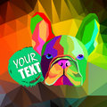 French Bulldog. illustration for a card or poster. Print on clothes. Cute puppy. Pedigree dog.