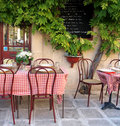 French cafe in Provence Stock Photo