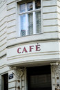 French cafe in Vienna Stock Image