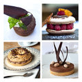 French cakes collage
