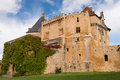 French castle old in the south of france Royalty Free Stock Photos