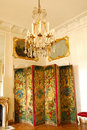 French chandelier and room divider