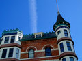 French chateau style hotel the idanha has been a château landmark in boise idaho since Stock Photo