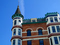 French chateau style hotel the idanha has been a château landmark in boise idaho since Royalty Free Stock Photo