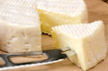 French cheese on a wooden board Royalty Free Stock Photography