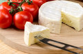 French cheese on a wooden board Royalty Free Stock Photo