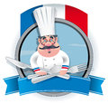 French chef banner eps file illustration contains a transparency this transparency is on a separate layer from the rest of the Royalty Free Stock Photos