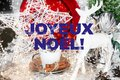 stock image of  French christmas card, joyeux noël, France
