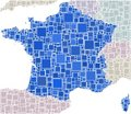 French in a coloured mosaic  Stock Photo