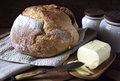 French country bread and butter Royalty Free Stock Photo