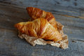 French croissants Crescents Royalty Free Stock Photography
