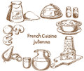 French cuisine, julienne, ingredients