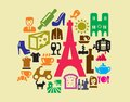 French culture icons Stock Photography