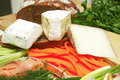French delicatessen cheeses Royalty Free Stock Photo