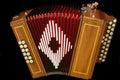 French diatonic accordion Royalty Free Stock Photo